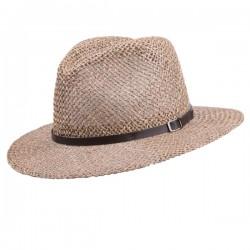 Béžový pánský slaměný klobouk Assante 80000