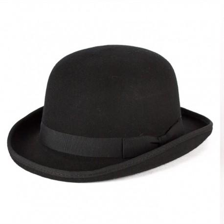 Černá buřinka pánský klobouk 100 % vlna Mes 85015 754d27ecf8