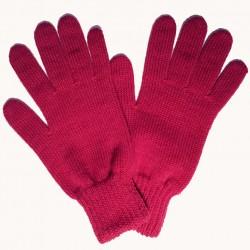 Fialové pletené dámské rukavice Assante 89754