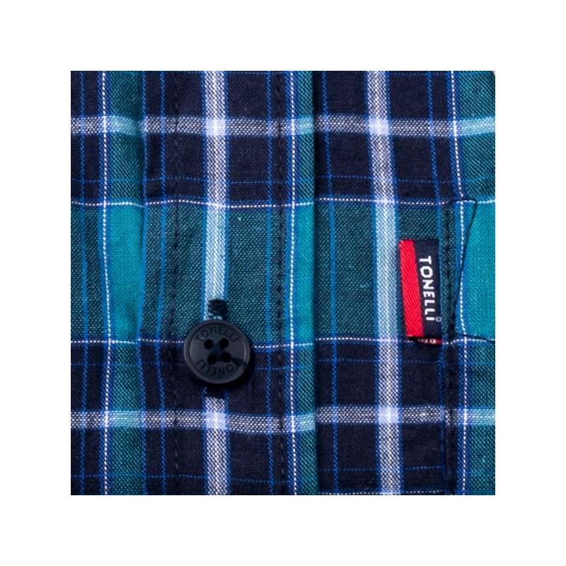 346ffb084c6 Modrá 100 % bavlna nadměrná košile Tonelli 110964