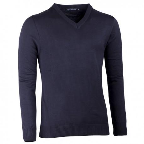 Černý pánský svetr do véčka Assante 51018