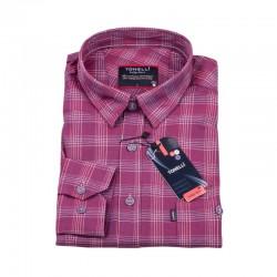 Bordó kostičkovaná košile Tonelli 110972
