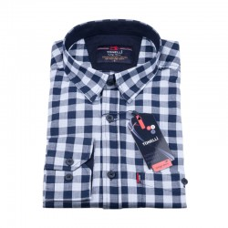 Modrá kostičkovaná košile Tonelli 110977
