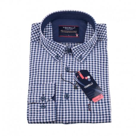 Modrá kostičkovaná košile Tonelli 110981