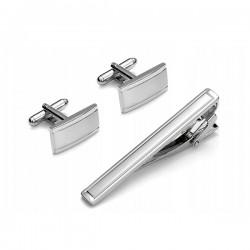 Manžetové knoflíčky stříbrné barvy Assante 90592