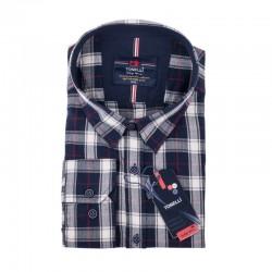 Černošedá kostkovaná košile Tonelli 110988