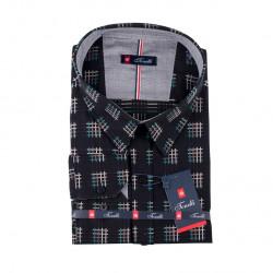 Černošedá nadměrná košile Tonelli 110991