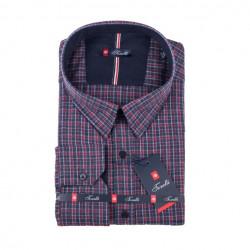 Šedočervená nadměrná košile Tonelli 110997