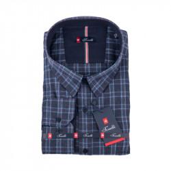 Modrošedá károvaná nadměrná košile Tonelli 110995