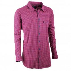 Pánská košile červená dlouhý rukáv Tonelli 110922
